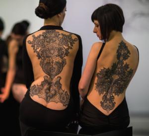 ornamental back tattoos